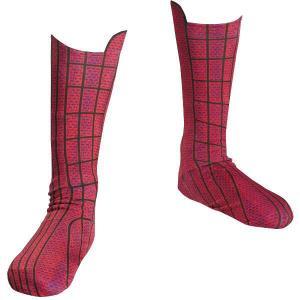 スパイダーマンのコスプレに。子供向け靴下/ブーツカバーです。  足のサイズ:約18cm 高さ:約22...