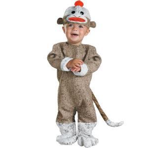 着ぐるみ ソックモンキー アニマル ベビー ハロウィン コスプレ コスチューム 赤ちゃん用コスチューム|acomes