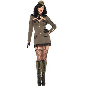 ハロウィン アーミー ミリタリー コスチューム コスプレ 女性 軍服 セクシー 衣装|acomes