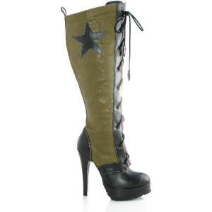 新生活 レディース 靴 大きいサイズ もある 迷彩 ミリタリー セクシー コスプレグッズ 大人用ブーツ ハロウィン|acomes