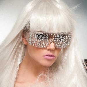 レディーガガ サングラス コスプレ コスチューム グッズ 奇抜なサングラス ジュエル メガネ Lady Gaga|acomes