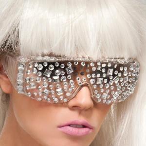レディーガガ サングラス コスプレ コスチューム グッズ 奇抜なサングラス ジュエル メガネ Lady Gaga|acomes|02