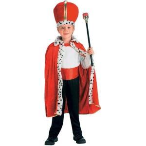 衣装 子供 王子様 王様 コスチューム 王子 衣装 ローブ 王冠 子供用コスプレ マント クラウン|acomes