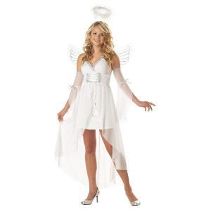 天使 エンジェル 堕天使 大人用 コスチューム ホワイト ハロウィン コスチューム