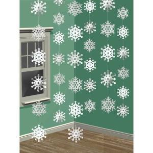 クリスマス パーティー 飾り グッズ 雪の結晶 吊り飾り デコレーション acomes