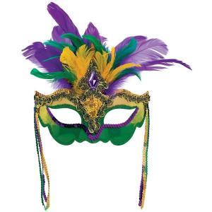 ベネチアン マスク 仮装 マルディグラ ハロウィン コスプレ グッズ 羽根付きベネチアンマスク|acomes