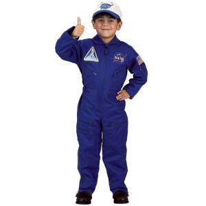 ハロウィン 宇宙 衣装 宇宙飛行士 制服 子供 フライトスーツ コスチューム コスプレ 仮装 青 NASA acomes
