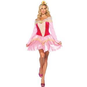 オーロラ姫 衣装 ディズニー ドレス 大人用 プリンセス 眠れる森の美女 ハロウィン コスチューム|acomes