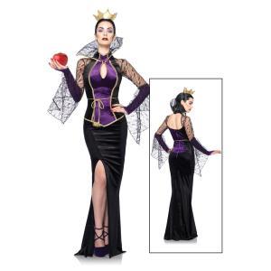 ハロウィン 白雪姫 お妃様 コスプレ 大人 コスチューム ドレス ディズニー ヴィランズ ウィックド・クイーン 女王 魔女 あすつく|acomes