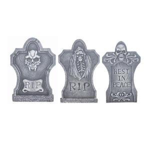 装飾 飾り デコレーション ホラー・恐怖系 グッズ ガイコツの墓石3つセット|acomes
