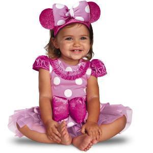 赤ちゃん ディズニー コスチューム ミニーマウス 衣装 ドレス コスプレ ハロウィン ベビー服 プレステージ ピンク 女の子|acomes