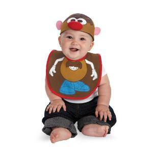 赤ちゃん ディズニー コスチューム ベビー ハロウィン Mr.ポテトヘッド ビブ よだれかけと帽子のセット|acomes