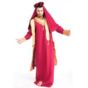 アラビアン コスチューム サルタン トルコ皇帝 アラブ 王様 ナイト 衣装 大人用 ハロウィン コスプレ 仮装|acomes|02