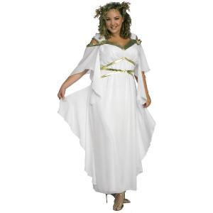 ハロウィン プレゼント ローマ ギリシャ 神話 ローマの女神大人用コスチューム 大きいサイズ|acomes