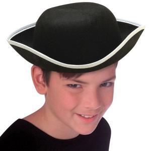 帽子 ハロウィン コスプレ コロニアル コロニアル  トリコーン 三角帽 子供用|acomes
