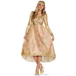 ハロウィン 大きいサイズ マレフィセント オーロラ姫 ドレス コスチューム 衣装 ディズニープリンセス コスプレ 大人 女性 デラックス 即位式 仮装|acomes