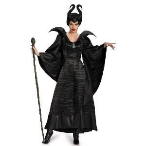 ハロウィン マレフィセント コスチューム 仮装 ディズニー デラックス洗礼式ドレス 黒 ブラック 大人用 大きいサイズ ヴィランズ 悪役|acomes
