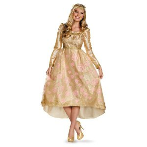 マレフィセント 衣装 仮装 コスチューム ディズニー コスプレ オーロラ姫 即位式のドレス 大人用|acomes