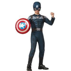 キャプテンアメリカ コスチューム コスプレ 衣装 子供 キャプテンアメリカ2 ウィンターソルジャー ステルスコスチューム アベンジャーズ キャラクター|acomes