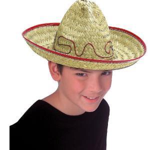 メキシコ 帽子 衣装 メキシカンハット 麦わら帽子 ソンブレロ ハロウィン コスプレ グッズ 子供用|acomes