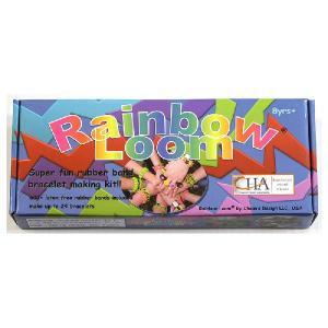 在庫処分市 レインボー ルーム Rainbow Loom 虹色 輪ゴム ブレスレット アクセサリー 製作 自作 キット おもちゃ|acomes