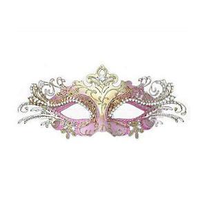 ベネチアン ヴェネチアン マスク 仮面舞踏会 マスカレード カーニバル ピンクのベネチアンマスク|acomes