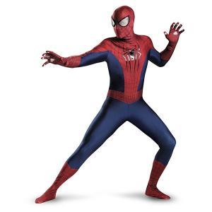 スパイダーマン 劇場版 アメイジング・スパイダーマン2 大人用コスチューム  映画そっくりなスパイダ...