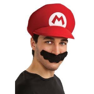 スーパーマリオ グッズ 帽子 ひげ セット ハロウィン コスチューム 仮装 大人 テレビゲーム acomes