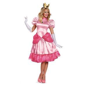 スーパーマリオ ブラザーズ コスプレ レディース ピーチ姫 大人 女性 ドレス 衣装 コスチューム  キャラクター テレビゲーム|acomes