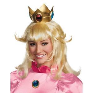 ピーチ姫 ウィッグ かつら ブロンド 金髪 大人 女性用 レディース スーパーマリオ コスプレ 仮装 グッズ テレビゲーム|acomes