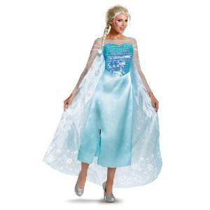 ハロウィン アナと雪の女王 ドレス 大きいサイズ エルサ 衣装 女性用 マント付 ディズニー 公式 コスチューム 仮装|acomes