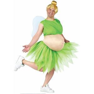ハロウィン 太った ティンカーベル コスチューム 大人 男性 おもしろ コスプレ おもしろい お腹の出たティンクのコス 仮装 衣装 ディズニー|acomes