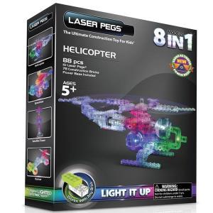 サイエンストイ 科学おもちゃ レーザーペグ LEDで光るブロック 8種類のヘリコプターキット|acomes