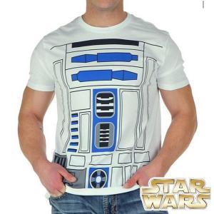 スターウォーズ グッズ コスプレ Tシャツ R2D2 半袖Tシャツ 大人用 白|acomes