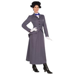 メリー・ポピンズ コスチューム 大人 女性 ハロウィン 衣装 コスプレ ベビーシッター ナニー メア...