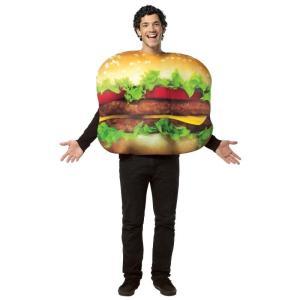チーズバーガー 大人 男性 コスチューム ハロウィン 衣装 食べ物 ハンバーガー リアル シェイク・...