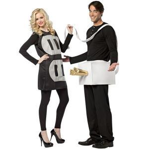 ハロウィン 大人用 コンセント プラグ カップル用 おもしろ ギャグ コスチューム 衣装 花見 宴会 二次会 イベント パーティー|acomes