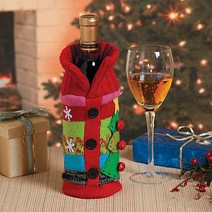 父の日 プレゼント ワイン ギフト おしゃれ 母の日  クリスマス ギフト  飾り 装飾 オーナメント デコレーション セーター  ワインバッグ シャンパン|acomes