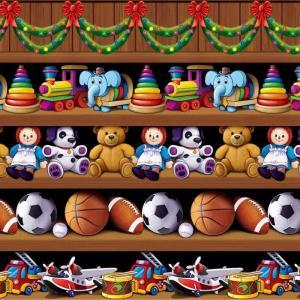 ウォール ステッカー サンタクロース おもちゃ 工場 背景 部屋 壁 飾り クリスマス パーティー 宴会|acomes