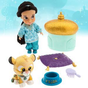 ディズニー アニメーターコレクション アラジン ジャスミン ミニドールプレイセット 人形 フィギア おもちゃ コレクターズアイテム acomes