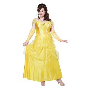美女と野獣 衣装 大きいサイズ コスチューム ハロウィン コスプレ イベント黄色 ドレス 仮装|acomes