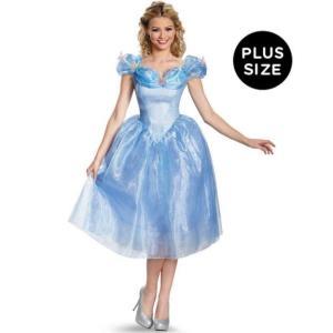 ハロウィン 大きいサイズ シンデレラ コスプレ コスチューム ドレス 大人 女性用 ディズニー 映画 公式ライセンス 衣装|acomes