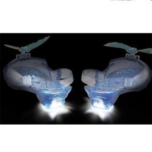 ハロウィン シンデレラ 靴 映画 子供用 光る グリッター シューズ ガラスの靴 小道具 コスプレ 仮装 ディズニー プリンセス|acomes|03