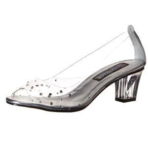 シンデレラ ガラスの靴 ラインストーン付き パンプス ハイヒール シューズ プリンセス 大人用 女性用 ハロウィン コスプレ コスチューム 衣装|acomes
