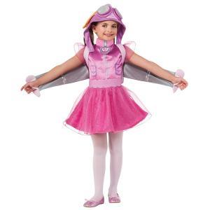 パウパトロール スカイ 子供 用 女の子 コスチューム ハロウィン コスプレ 衣装 パーティー Skye|acomes