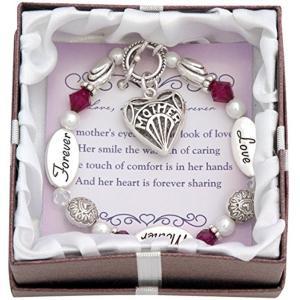 【母の日早期】母の日ギフトプレゼントジュエリーアクセサリーシルバーブレスレット腕輪motherloveforever