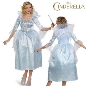 映画 シンデレラ フェアリー・ゴッドマザー 魔法使い DX ドレス 大人用 大きいサイズ ハロウィン コスプレ|acomes