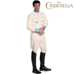 ハロウィン シンデレラ コスチューム 王子様 プリンス チャーミング 実写 映画 ディズニー 大人 コスプレ 男性 舞踏会 ドレス 衣装 大きいサイズ 白 XL XXL|acomes