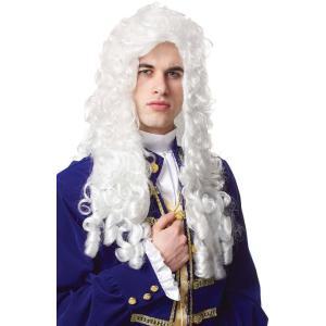 ウィッグ 中世 ハロウィン コスプレ 衣装 高貴な華族 貴族 大人用ウィッグ ロング 白 acomes