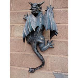 ハロウィンデコレーション 守護神 魔除け 壁掛け用ガーゴイル 彫像 置物 ガーデン インテリア 装飾 飾り グッズ acomes